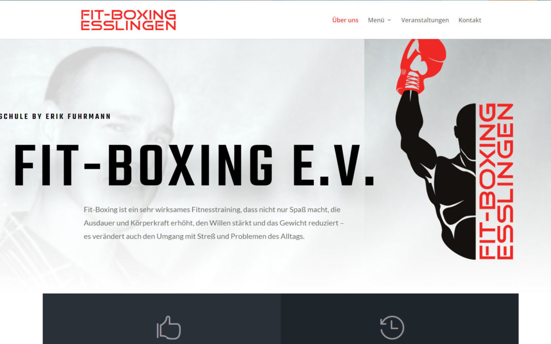 Responsives Webdesign für Fit-boxing.de Esslingen
