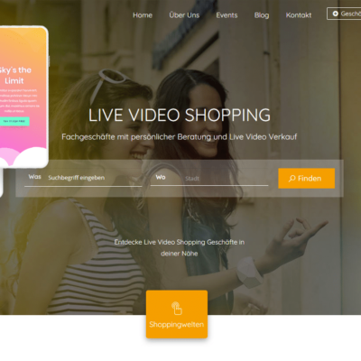 Live Video Shopping Werbeportal