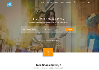 live-video-shopping.com Werbeplattform